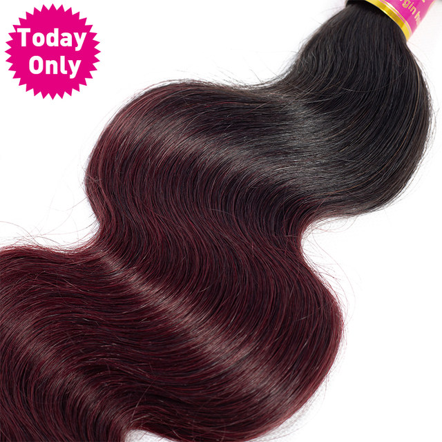 Online Shop Today Only 1 3 4 Bundles Burgundy Brazilian Body Wave