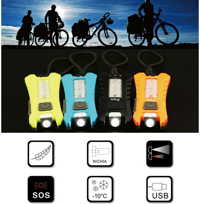 USB Rechargeable Bike Rear Tail Light LED Bicycle Warning Safety Lamp New
