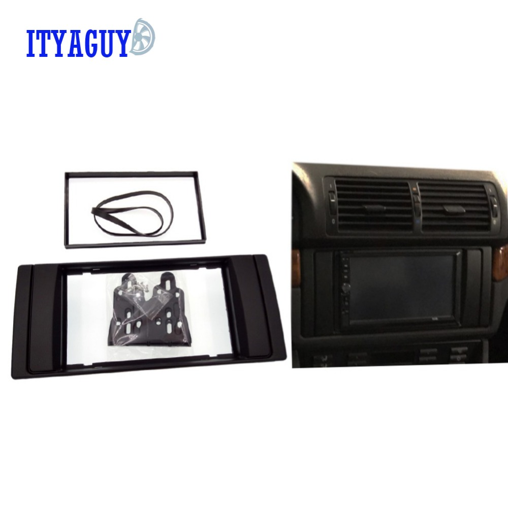 2Din Car Radio CD DVD GPS Stereo Panel Dash Mount Trim Kit Interface Frame Fascia for BMW 5 series (E39)/X5(E53) 1995-2003 блокада 2 dvd