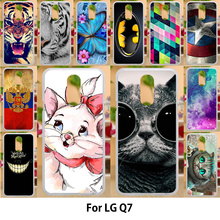Anunob Case For LG Q7 Cases TPU Soft Silicone 5.5 inch Cover For LG Q7 Plus Q7 alpha LG Style /L-03K Covers Sunny Smile Painting цена