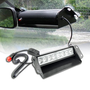 DC12V 8W led car windshield warning light,led strobe dash light,police emergency lights,mounting by 4 sucking discs s2 shovels ray bead 96w led flashing police strobe intimidator windshield dash light