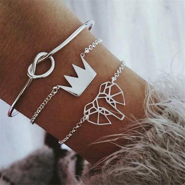 Купить женский и мужской набор браслетов diezi в богемном стиле с цепочкой