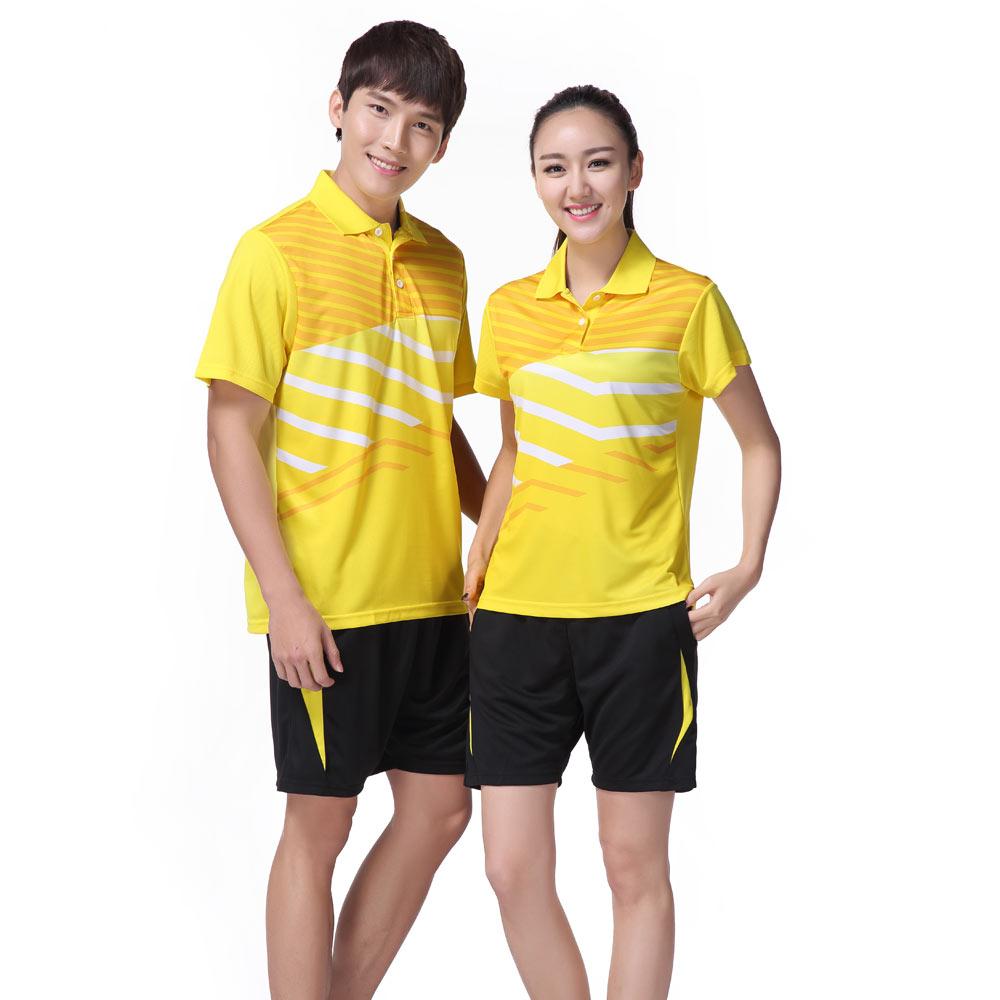 Adsmoney para Homens Jovens e Mulheres Ténis de Mesa de Tênis de Desgaste Respirável e Quick-secagem Sportswear Badminton Jersey3058