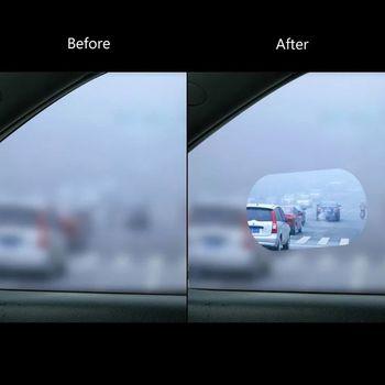 1 para samochodów Anti mgła wodna Film Anti Fog powłoka przeciwdeszczowa hydrofobowa lusterko wsteczne folia ochronna tanie i dobre opinie GEGDFG CN (pochodzenie) Inne Klej naklejki 0 1cm cartoon Z tworzywa sztucznego Nie pakowane Protective Film PET+ Nano Coating