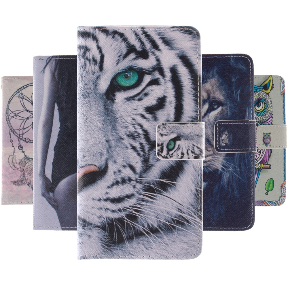 Printed Tiger Lion Owl PU Leather Stand Wallet Flip Case for Huawei Ascend P9 Cell Phone Cases Cover Bag for Huawei P9 Case