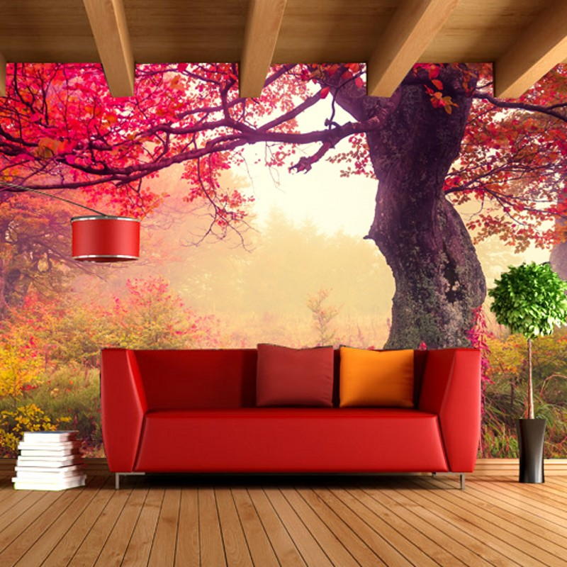 cozy living background bedroom cafe forest garden 3d stereoscopic mural decoration landscape zoom idyllic custom wallpapers