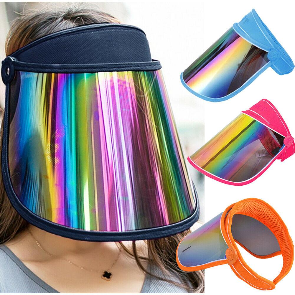Women Visor Sun Cover HAT 2019 Summer PVC Anti-UA Cover Cap Face Shield Sunscreen Cap Ladies Casual Outdoor Sports Cap