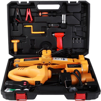 3 Ton 12V Electric Scissor Car Jack Lift 1/2 Impact Wrench 12V DC Automotive with Case Parts