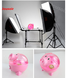 Falconeyes Small studio set 6 light head Double lamp + soft box + Light stand set photography lamp set six-linked lamp CD50 T06
