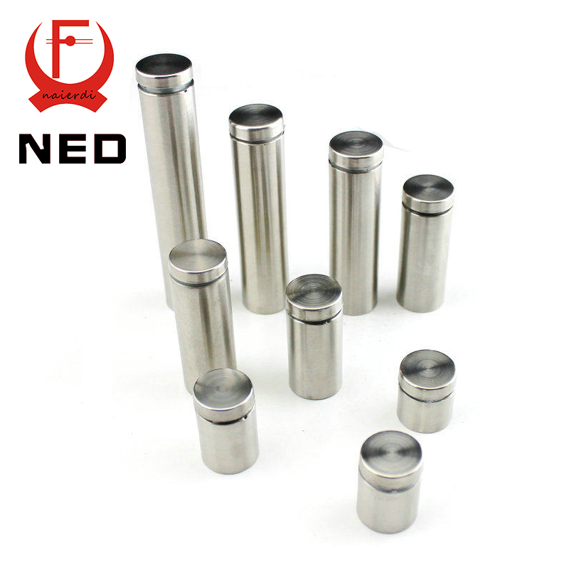 NED Diameter 25mm Stainless Steel Standoffs Pin Nails Screw Acrylic Advertisement Decoration Fixing Screws Billboard Glass Nail 10pcs lot 25 80mm 25mm stainless steel acrylic advertisement fixing screws glass standoff pin nails