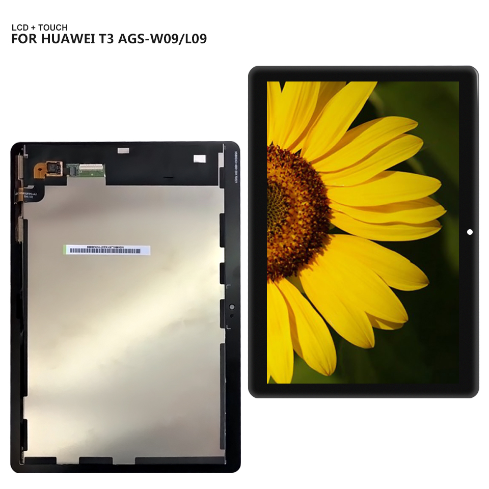 9.6'' For Huawei MediaPad T3 10 AGS-L09 AGS-W09 AGS-L03 Display Panel LCD Combo Touch Screen Glass Sensor Replacement Parts for 9 6 huawei mediapad t3 10 ags l09 ags w09 ags l03 tablet lcd display matrix touch screen panel digitizer sensor replacement
