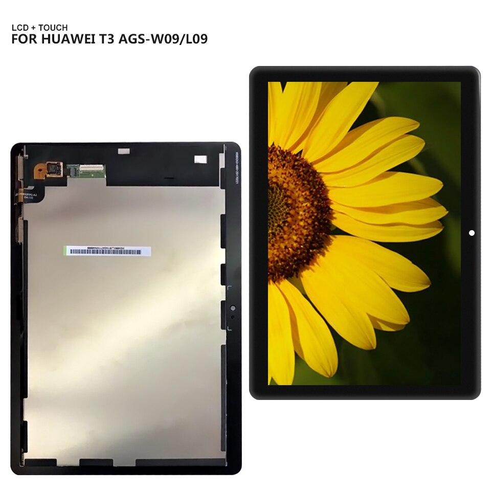 9.6 ''Pour Huawei MediaPad T3 10 AGS-L09 AGS-W09 AGS-L03 Panneau D'affichage LCD Combo Écran Tactile Capteur En Verre Pièces De Rechange