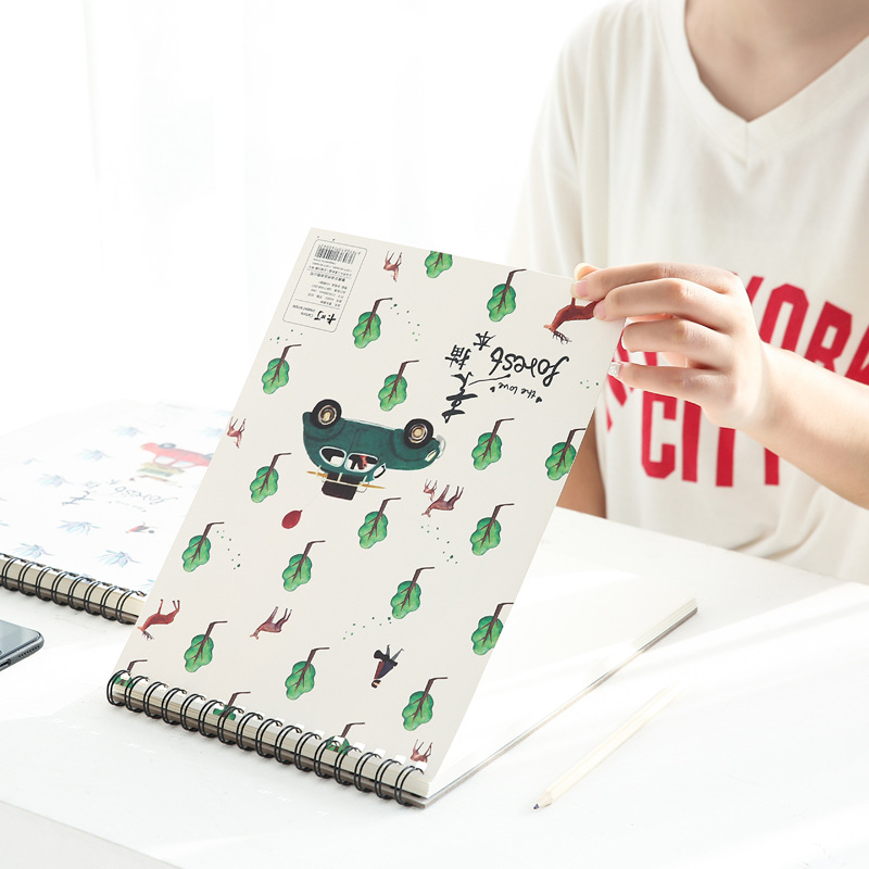 2019 Cute Spiral Notebook A4 Sketch Book Drawing From Nature Jotter School Supplies Office Stationery2019 Cute Spiral Notebook A4 Sketch Book Drawing From Nature Jotter School Supplies Office Stationery
