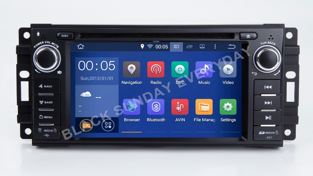 Quadcore Android8.1 Car DVD GPS for <font><b>Chrysler</b></font> <font><b>300C</b></font> Aspen /Jeep Cherokee Commander Compass Wrangler Journey Navigation Radio 2GRAM image