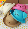 Children Boys Sun Hats Spring Summer Caps cartoon  straw Hat Baby Kids Boy Cool Bear Cap New Fashion Free Drop Shipping 12-24