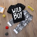 2Pcs Baby Boy Kids Toddler Summer T-shirt Tops Long Pants Clothes Set Outfits