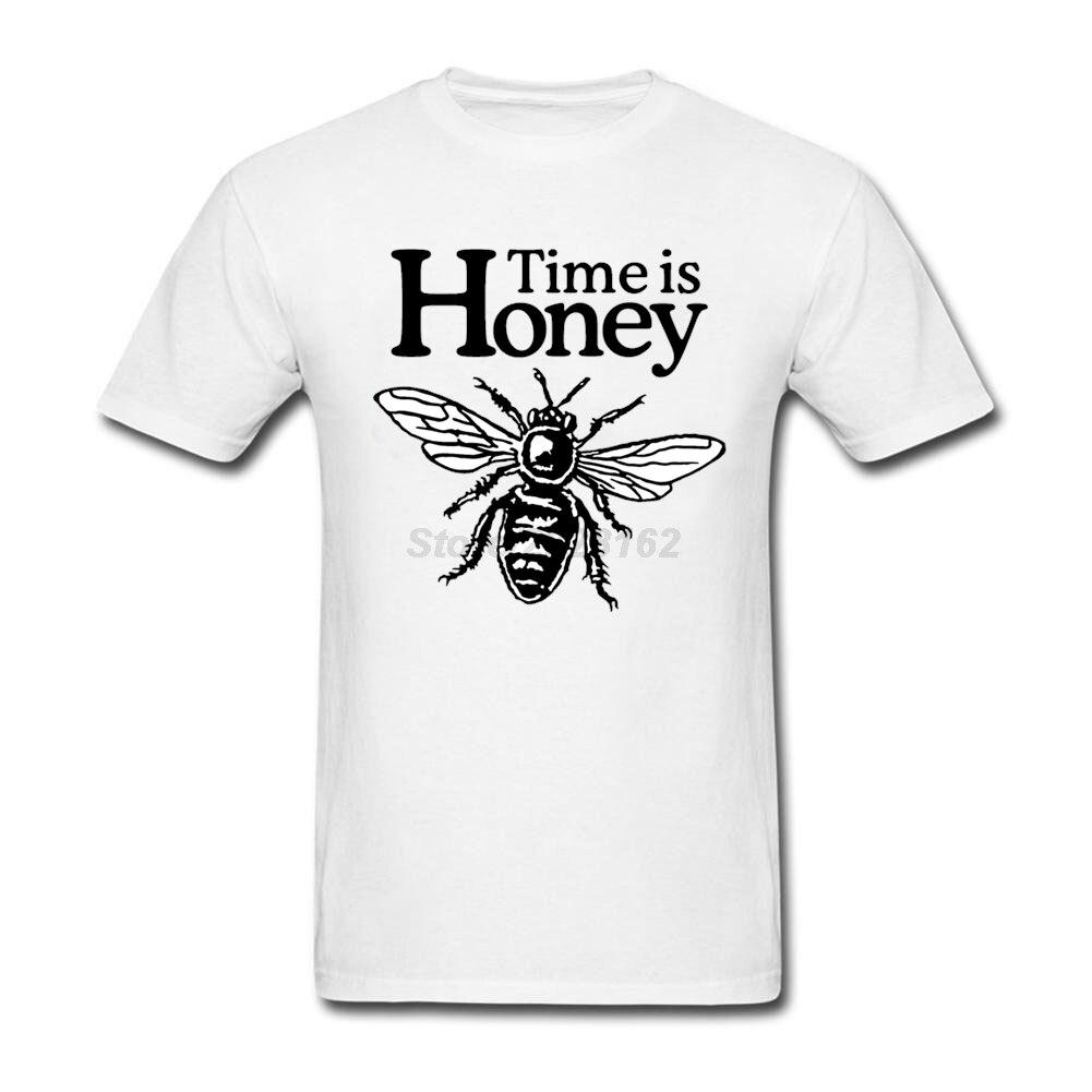 Organique Coton Hommes Funky t-shirt Temps est Miel Apiculteur De Luxe Bee Graphique vêtement Pour partie Imprimé homme T-shirts