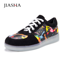 Lover Led Luminous Colorful Shoes Women Casual Shoes Man 2016 New Arrived