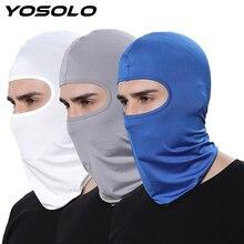 YOSOLO Moto מלא פנים מסכת מגן חיצוני ספורט כיסויי ראש פה כיסוי חיצוני אופני סקי לנשימה אבק הוכחה Windproof מסכה