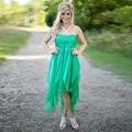 Green Bridesmaid Dresses Country 2016 robe demoiselle d'honneur Chiffon Bridesmaid Dress Off Shoulder Bridesmaid Gowns Appliques