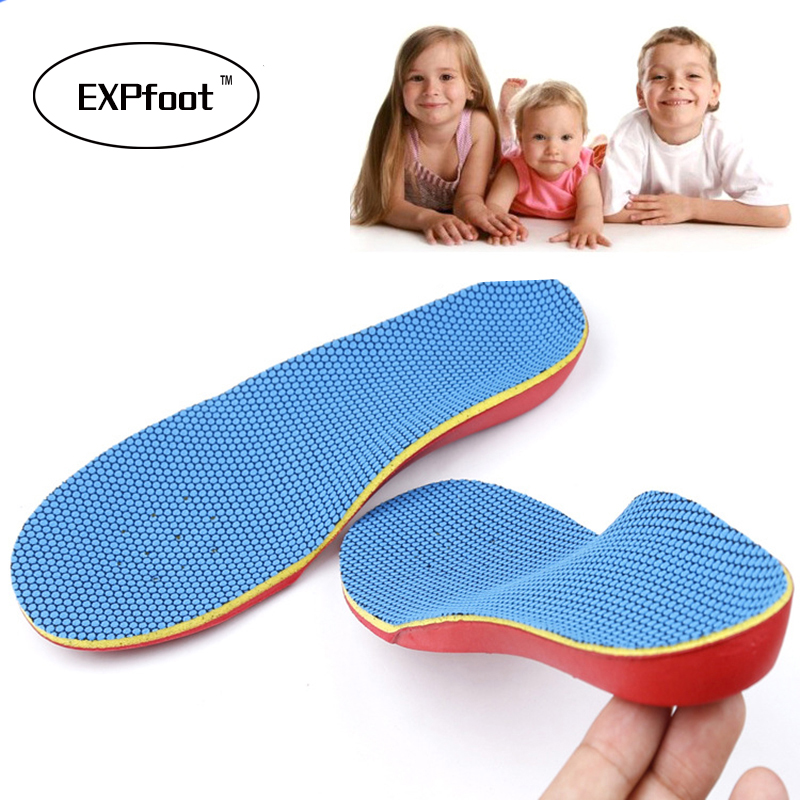 Kid's Orthotic insole Memory form Deep heel Orthopedic for Children  Arch Support  flat foot  Pads Correction health feet care kids children pu orthopedic insoles for children shoes flat foot arch support orthotic pads correction health feet care w046