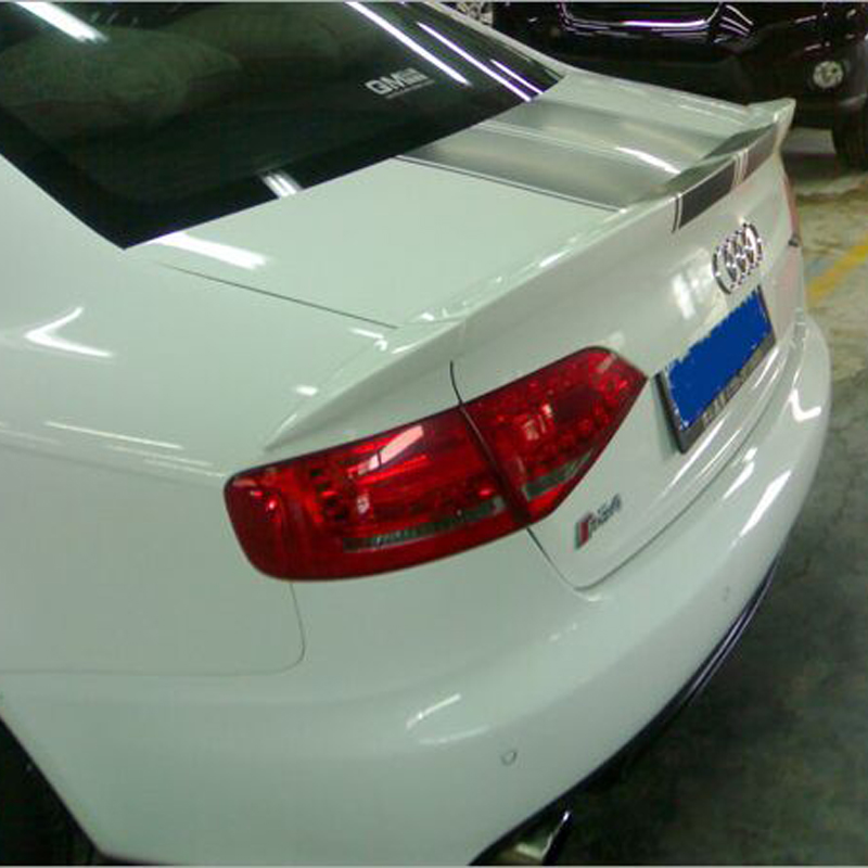 ФОТО Unpainted PU A4 B8 ABT style rear trunk spoiler wing for Audi A4 B8 2009~2012