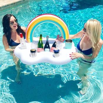 Ice Bucket Rainbow Cloud Cup Holder Inflatable