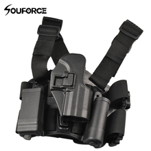 Tactical Leg Set Combat Belt Hunting Holster Airsoft Drop Leg Right Handed Pistol Gun Holster Set tactical gun carry military combat sig sauer p226 pistol leg holster hunting equipment right hand pistol thigh holster 3 colors