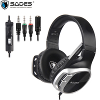 SADES PS4 Gaming Headphone Wired Noise Cancelling Over Ear Headset Earphone with microphone for Xbox Laptop PC Mac Mobile phone