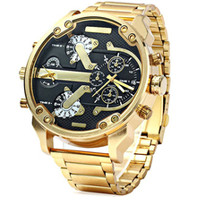 Men Watches Luxury Brand Men Military Multiple Time Zone Wrist Watches Full Steel Men Sports Watch Waterproof Relogio Masculino