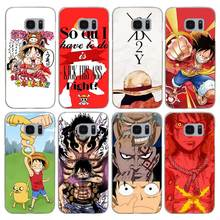 G196 One Piece Luffy Transparent Hard PC Case Cover For Samsung Galaxy S 3 4 5 6 7 8 Mini Edge Plus Note 3 4 5