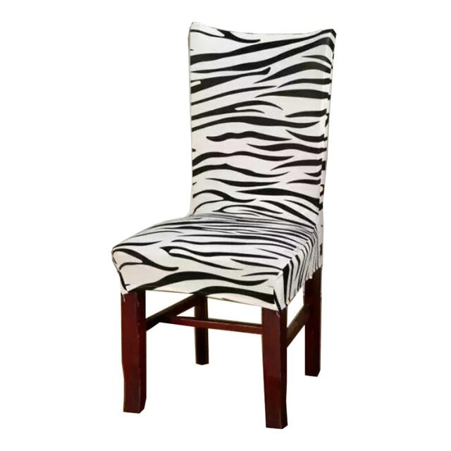 Zebra Jacquard Stoelbekleding Goedkope Jacquard Stretch Stoelhoezen ...
