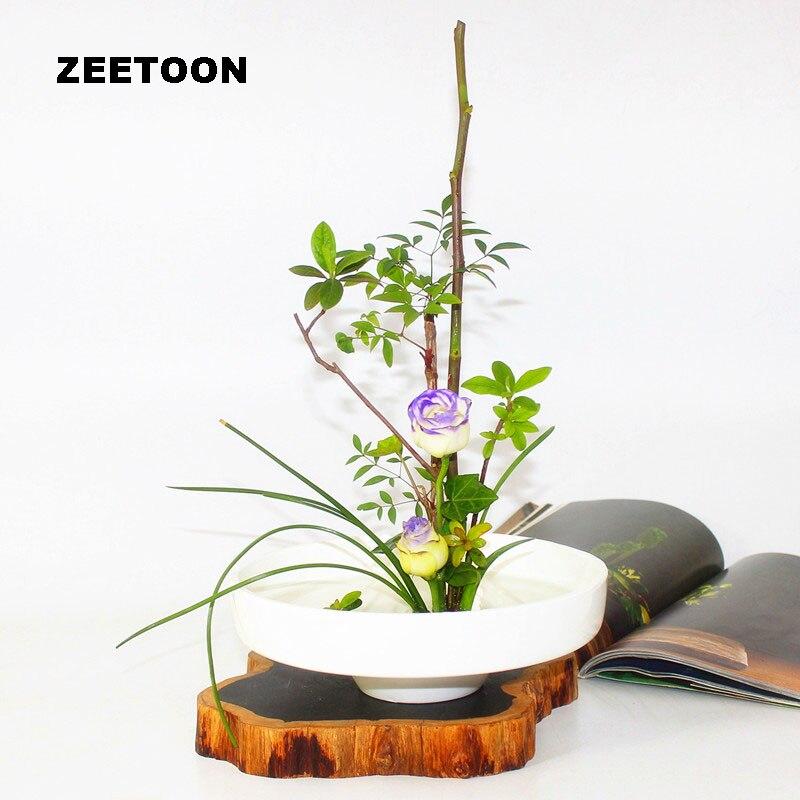 Zen fleur Arrangement hydroponique de table Pot de fleur ikea bana Vase en céramique récipient blanc bassin nourriture bol Vintage décor à la maison