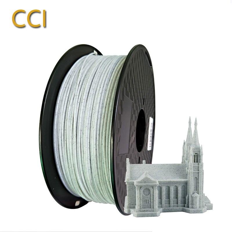 PLA marble 3d printer filament 1.75mm 1KG stone wire rock texture plastic printing materials for stone ceramic statue creativity