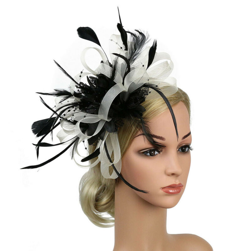 Womens Vintage Sinamay Fascinator Cocktail Hat Wedding Kentucky Derby Headpiece