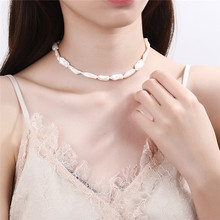 Silvology 925 Sterling Silver Natural Pearl Torques& Choker Necklace Luxurious for Women Fashionable French Jewelry