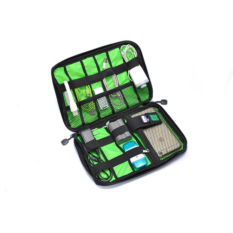 Digital Accessories Storage Bag Waterproof Shockproof USB Power Cord HDD Organizer Bag Large Double Layer Cable Organizer Bag