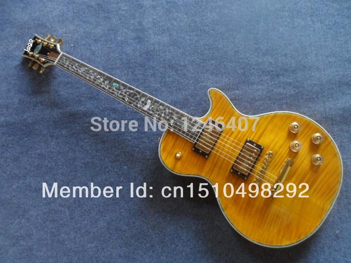 Manufacture all kinds of the best tiger stripes Lp   guitar G can be customized as required EMS free shipping