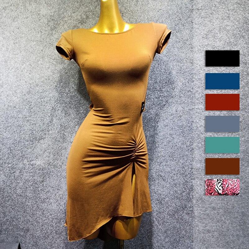 Colorful Modal Latin Dance Dresses For Women/Ladies Sexy Back Dance Dress Flamengo Tango Dress Competitive Latin Dress VDB482