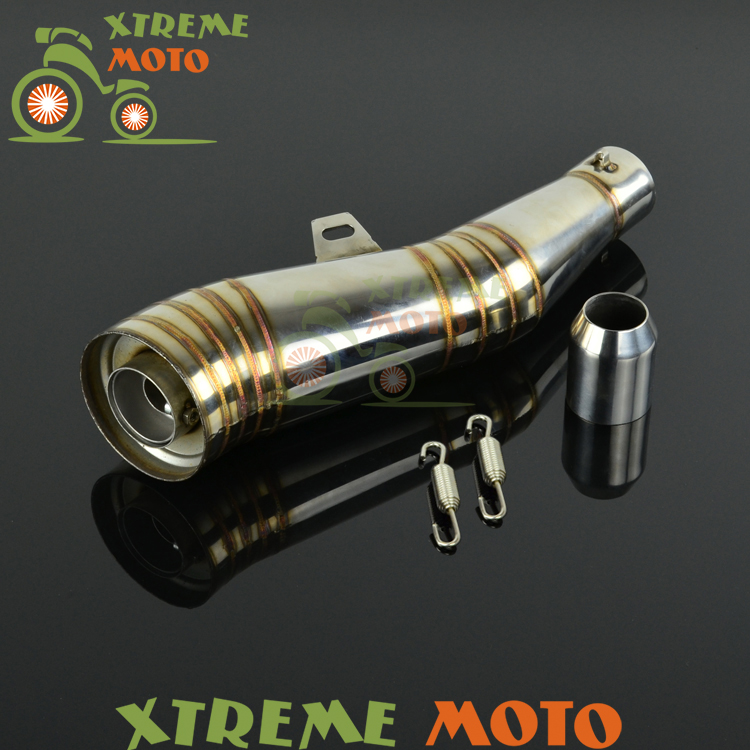 GP Stainelss Steel Motorcycle Exhaust Muffler Slip On With Moveable DB Killer For CB400 600 CBR600 1000 YZF FZ400 Z750 YZF600 38 51mm motorcycle gp stainelss steel exhaust muffler slip on with moveable db killer dirt bike street bike scooter atv racing