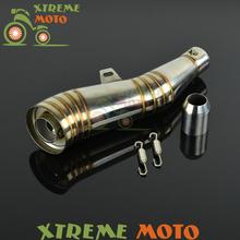 GP Stainelss Steel Motorcycle Exhaust Muffler Slip On With Moveable DB Killer For CB400 600 CBR600