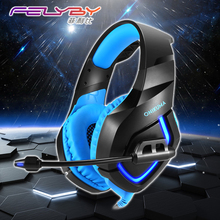 Headphones for a mobile phone PC PS4 PSP 3.5mm + USB Wired gaming Headphone with Microphone LED Lamp Noise Canceling Headset