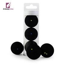 3 шт./трубка FANGCAN TCSQB Профессиональный Сквош-шар желтая точка низкая скорость резиновый мяч трубка упаковка синий точка обучение сквош мяч