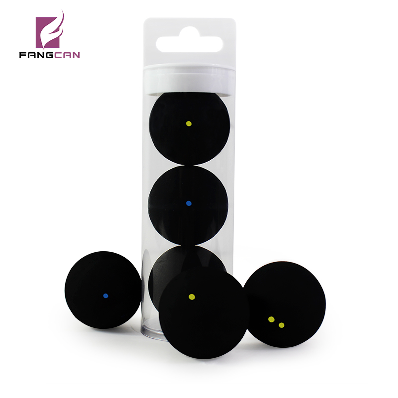 3pcs/tube FANGCAN TCSQB Professional Squash Ball Yellow Dot Low Speed Rubber Ball Tube Packing Blue dot Training Squash Ball