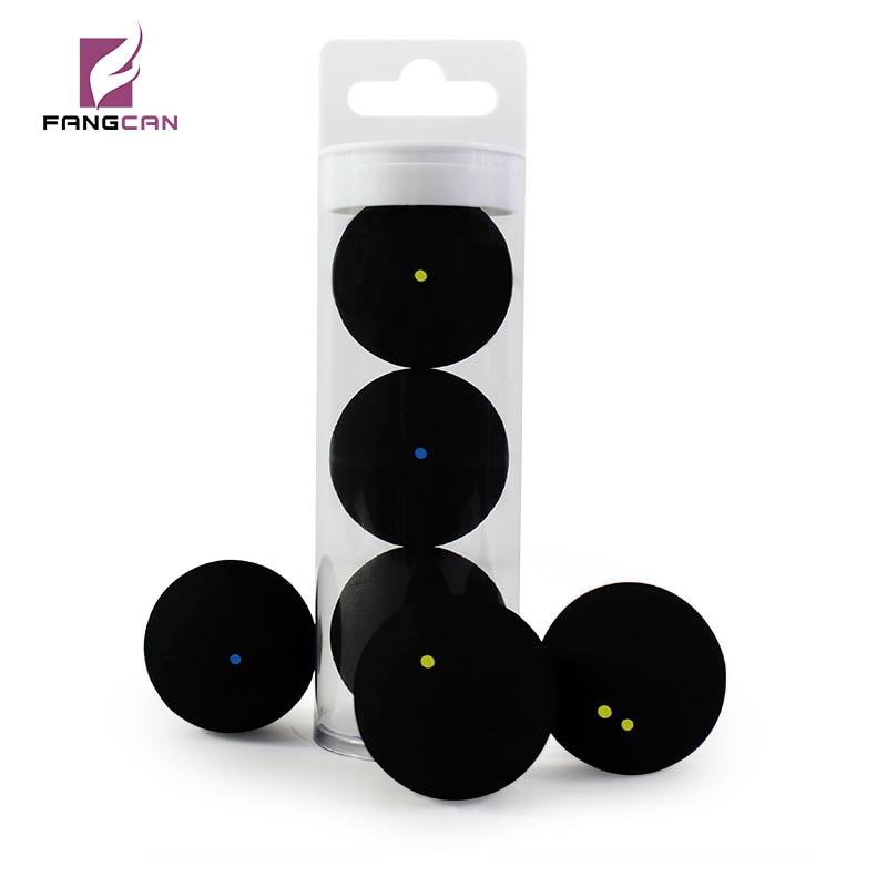 3pcs/tube FANGCAN TCSQB Professional Squash Ball Yellow Dot Low Speed Rubber Ball Tube Packing Blue Dot Training Squash Ball