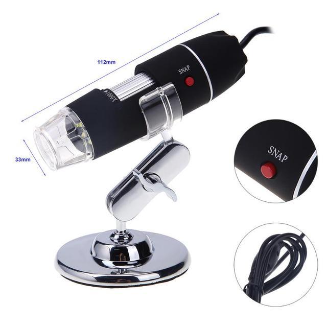 Portable USB Digital Electronic Microscope 8 LED Magnifier 5