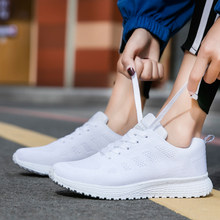 Women casual shoes fashion breathable Walking mesh lace up shoes sneakers women 2018 tenis feminino black white plus size(China)