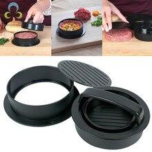 1 set ABS Material Kitchen Hamburger Meat Press Patties Pressure Combination Meat Press Hamburger Making Tools LXX