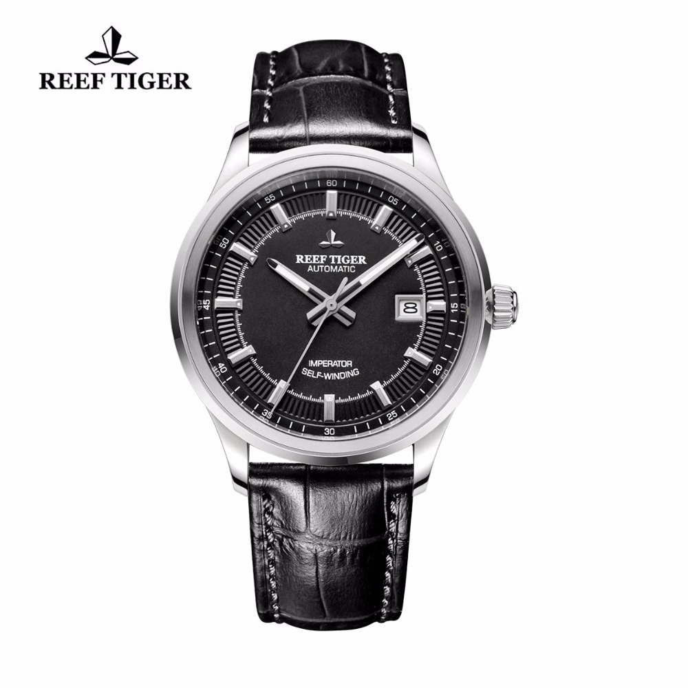Reef Tiger/RT Watches New Designer Dress Watches For Business Mens Automatic Watches Genuine Leather Luminous Watches RGA8015 yn e3 rt ttl radio trigger speedlite transmitter as st e3 rt for canon 600ex rt new arrival