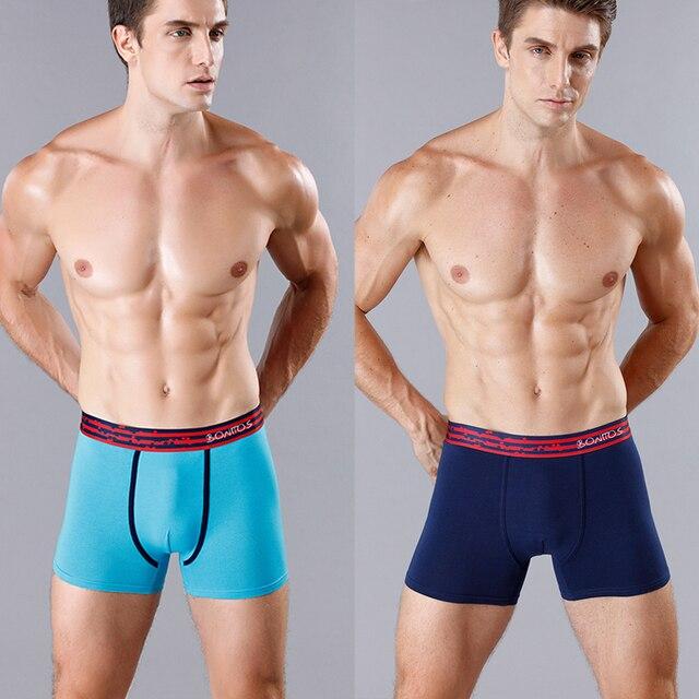 BONITOS Boxer Shorts hombres 4 unids/lote ropa interior para hombres algodón hombres pantalones bambú Mariconera caleconon hombres calzoncillos Sexy Bran